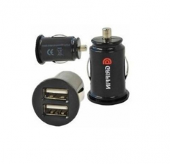 Wholesale Good Price Mini Bullet Dual USB 2 Port Car Charger