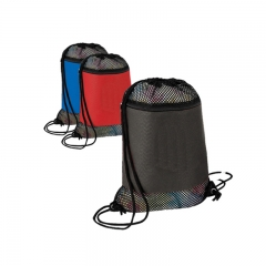 New Recycled Polyester Packing Drawstring Mesh Bag
