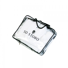 Waterproof Transparent PVC with Handles PVC Shopping Bag