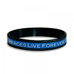 Silicone Wristband Used for Souvenir the Hero with Wholesale
