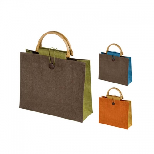 Wholesale Colorful Tote Shopping Jute Bag Promotional Jute Gunny Bags