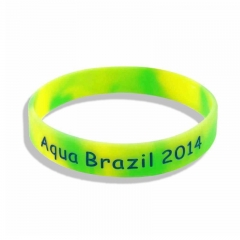 Factory directly cheap sell custom made print rubber wristba