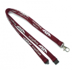 Wholesale Promotional  Metal Lanyard in Weave Made in China