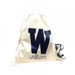 Wholesale Custom Promotion Gift Canvas Cotton Drawstring Bag