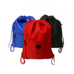 Customized Promotion Microfiber Fabric Drawstring Bag