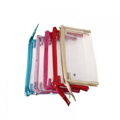 Custom Printed Resalable Clear PVC Zipper Bag Shopping Bag