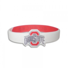 Mixxed Color Silicone Wristband with Embosses Logo & Pattern
