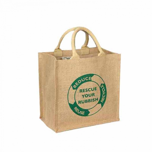 Wholesale Cheap Printed Natural Jute Shopping Bag Tote Jute Bag