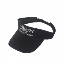 Wholesale embroidery cotton sports sun visor / sun visor cap