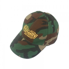 Green Camo with embroidery logo 6 panel custom baseball cap