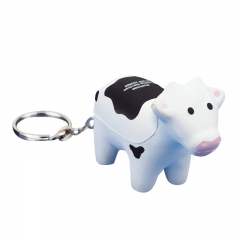 High Qualiy Cheap Cow Stress Ball with Keyring