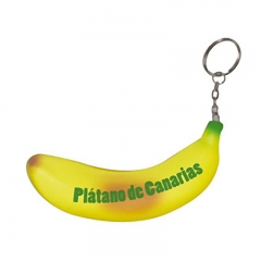 Hot Selling Eco-friendly Logo Printed Banana Stress Ball wit