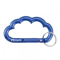 2016 New Design Customized Cloud Carabiner with Keyring