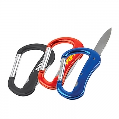 Hot Selling Outdoor Pocket Tool Carabiner with Knife