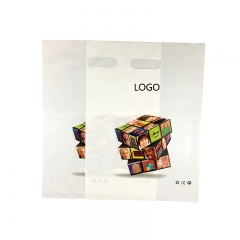 Die cut handle customized plastic bag shipping bag