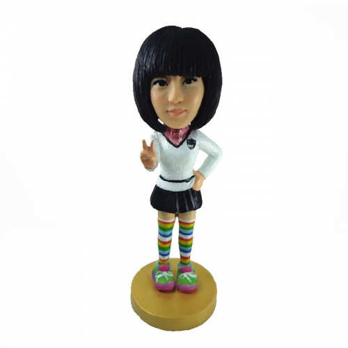 Wholesale Resin Little Girl Bobblehead Made in China