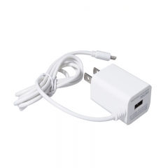 White USA charger 2 Pins USB wall plug With USB Sync Data Ca