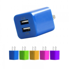 Promotional Custom Logo 2 Dual usb port 4.2A USB home Charge