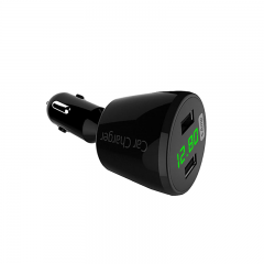 Dual USB 2 Port Bullet Car Charger Adapters For Mobile Phone