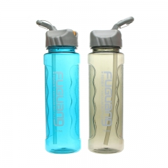 Custom Printed Plastic Water Bottle Manufacture with Straw