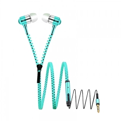 Zipper Style Tangle Free Earphones Headphones for Mobile Pho