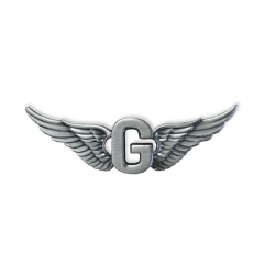 Zinc alloy label pin Fly G badge