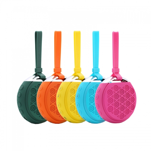 Multi Color Outdoor Bluetooth speaker with lanyard