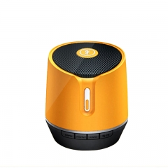 2017 High quality gold color Bluetooth speaker with silk pri