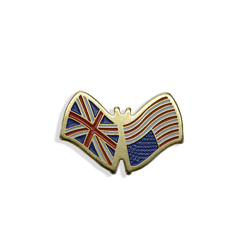 promotional label pin custom flag badge lapel pin
