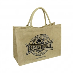 2016 new arrival jute tote bag with window manufacturers in