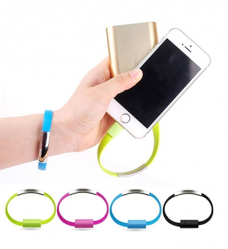 New arrival Promotional USB Cable Wristband for Cell Phone Chargin with deta trasfer
