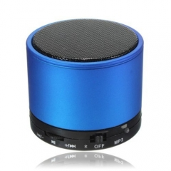 Cheap Promotional Round Metal Mini Bluetooth Speaker with FM Radio