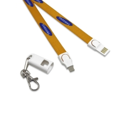 2018 Lower Price 2 in 1 USB Polyester Lanyard Charging Cable