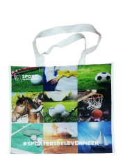 CMYK printing 120GSM pp woven bag with customized design