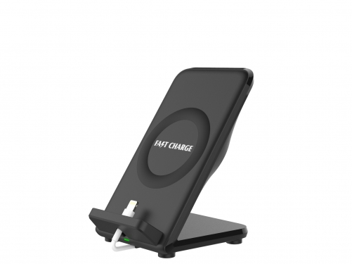 New arrival fast charging stand wireless charger with rear fan for NOTE 8, S8, IPHONE 8, IPHONE X